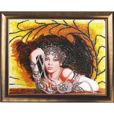 Набор для вышивания бисером Butterfly №426 «Леди в черном» 32*25 см в интернет-магазине Швейпрофи.рф