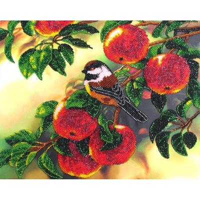 Набор для вышивания бисером Butterfly №508 «Воробьишка» 32*26 см в интернет-магазине Швейпрофи.рф
