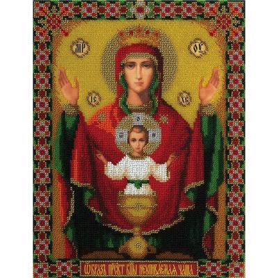 Набор для вышивания бисером Panna ЦМ-1490 «Икона Неупиваемая чаша» 23*30 см в интернет-магазине Швейпрофи.рф