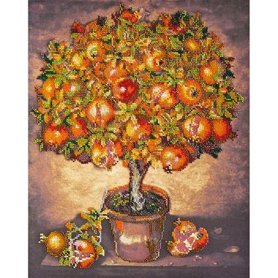 Набор для вышивания бисером Абрис АВ-475 «Гранатовое дерево» 31*39 см в интернет-магазине Швейпрофи.рф