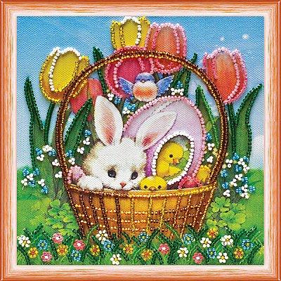 Набор для вышивания бисером Абрис АМ-072 «Пасхальная радость» 15*15 см в интернет-магазине Швейпрофи.рф