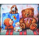 Набор для вышивания бисером Астрея Gluriya 56018 «Плюшевые медведи» 40*32 см