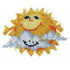 Набор для вышивания бисером Бисеринка Б-0005 «Солнышко» 12*9 см