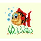 Набор для вышивания бисером Бисеринка Б-0013 «Рыбка» 11*11 см