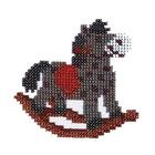 Набор для вышивания бисером Бисеринка Б-0017 «Лошадка» 10*10 см