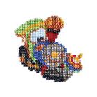 Набор для вышивания бисером Бисеринка Б-0022 «Паровозик» 9*9 см