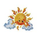 Набор для вышивания бисером Бисеринка Б-0027 «Солнышко» 9*11 см