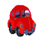 Набор для вышивания бисером Бисеринка Б-0030 «Машинка» 11*12 см