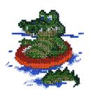 Набор для вышивания бисером Бисеринка Б-0031 «Крокодил» 11*11 см