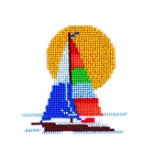 Набор для вышивания бисером Бисеринка Б-0032 «Парусник» 11*11 см