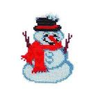 Набор для вышивания бисером Бисеринка Б-0036 «Снеговик» 9*11 см