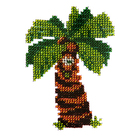 Набор для вышивания бисером Бисеринка Б-0042 «Пальма» 9*11 см