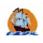 Набор для вышивания бисером Бисеринка Б-0045 «Корабль» 12*11 см