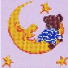 Набор для вышивания бисером Бисеринка Б-0053 «Мишка на луне» 12*12 см
