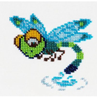 Набор для вышивания бисером Бисеринка Б-0062 «Стрекоза» 11*10 см