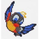 Набор для вышивания бисером Бисеринка Б-0063 «Птичка» 9*10 см