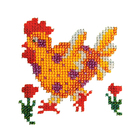Набор для вышивания бисером Бисеринка Б-0066 «Рябушка» 12*12 см