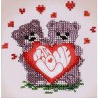 Набор для вышивания бисером Бисеринка Б-0075 «Валентинка» 12*12 см