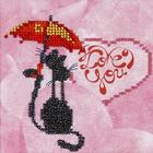 Набор для вышивания бисером Бисеринка Б-0076 «Романтика» 12*12 см