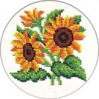Набор для вышивания бисером Кларт 8-117 «Цветы солнца» 13*13 см