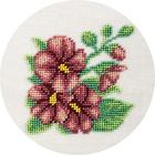 Набор для вышивания бисером Кларт 8-141 «Мальва» 12*12 см