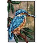 Набор для вышивания бисером Кларт 8-143 «Зимородок» 12*17 см