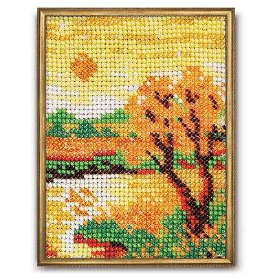 Набор для вышивания бисером Кроше В-017 «Осенний вечер» 10*13 см в интернет-магазине Швейпрофи.рф
