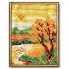 Набор для вышивания бисером Кроше В-017 «Осенний вечер» 10*13 см