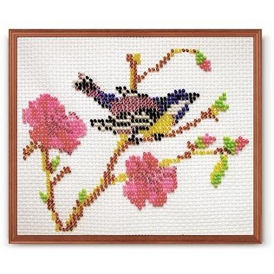 Набор для вышивания бисером Кроше В-096 «Синица» 16*13 см в интернет-магазине Швейпрофи.рф