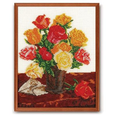 Набор для вышивания бисером Кроше В-145 «Для любимой (розы)» 24*30 см в интернет-магазине Швейпрофи.рф