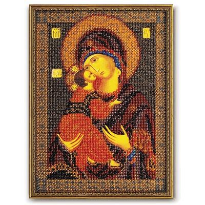 Набор для вышивания бисером Кроше В-147 «Икона Божией Матери Владимирская» 18*25 см в интернет-магазине Швейпрофи.рф