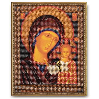 Набор для вышивания бисером Кроше В-148 «Икона Божией Матери Казанская» 19*23 см в интернет-магазине Швейпрофи.рф