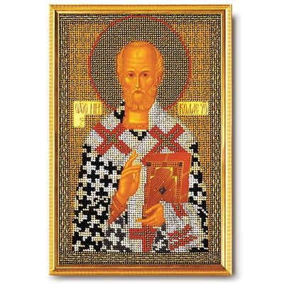 Набор для вышивания бисером Кроше В-151 «Николай Чудотворец» 17*26 см в интернет-магазине Швейпрофи.рф