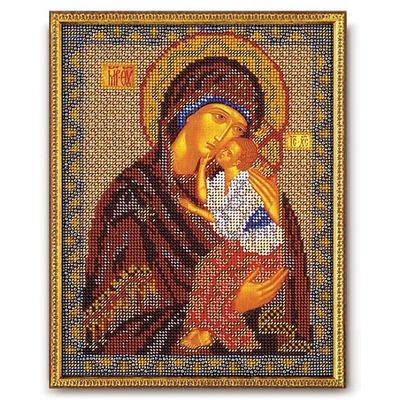 Набор для вышивания бисером Кроше В-152 «Икона Божией Матери Ярославская» 20*25 см в интернет-магазине Швейпрофи.рф
