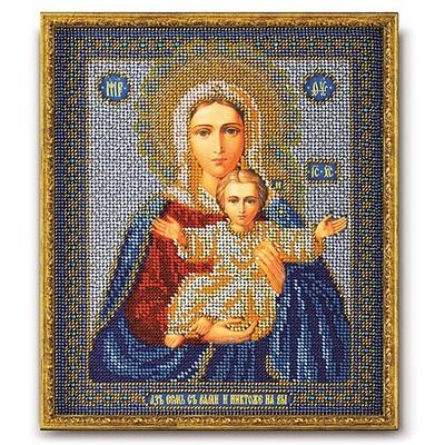 Набор для вышивания бисером Кроше В-156 «Икона Божией Матери Леушинская» 21*25 см в интернет-магазине Швейпрофи.рф