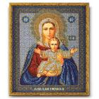 Набор для вышивания бисером Кроше В-156 «Икона Божией Матери Леушинская» 21*25 см