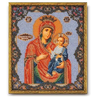 Набор для вышивания бисером Кроше В-162 «Икона Божией Матери Иверская» 20*24 см в интернет-магазине Швейпрофи.рф