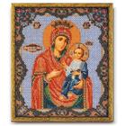Набор для вышивания бисером Кроше В-162 «Икона Божией Матери Иверская» 20*24 см