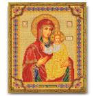 Набор для вышивания бисером Кроше В-163 «Икона Божией Матери Смоленская» 20*25 см