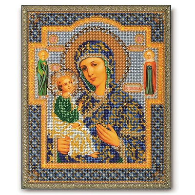 Набор для вышивания бисером Кроше В-164 «Икона Божией Матери Иерусалимская» 20*24 см в интернет-магазине Швейпрофи.рф