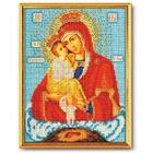 Набор для вышивания бисером Кроше В-170 «Икона Божией Матери Почаевская» 20*27 см