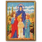 Набор для вышивания бисером Кроше В-179 «Св. Вера, Надежда и Любовь» 19*26 см