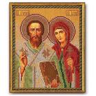 Набор для вышивания бисером Кроше В-186 «Киприан и Устинья» 19*23 см