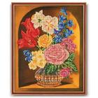 Набор для вышивания бисером Кроше В-201 «Букет в вазе» 27*35 см