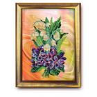 Набор для вышивания бисером Кроше В-222 «Весенний салют» 27*35 см