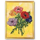 Набор для вышивания бисером Кроше В-223 «Анемоны» 28*34 см