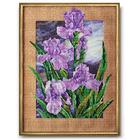 Набор для вышивания бисером Кроше В-250 «После дождя (ирисы)» 28*38 см