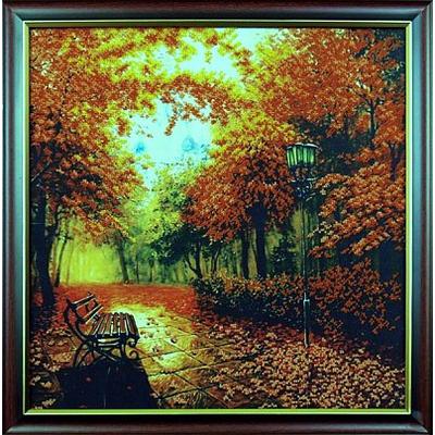 Набор для вышивания бисером МК Б-010 «Осенний парк» 39*40 см в интернет-магазине Швейпрофи.рф