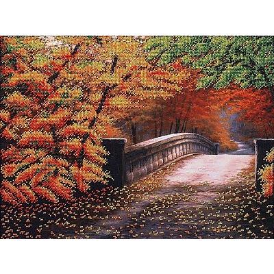 Набор для вышивания бисером МК Б-085 «Осенний мостик» 40*30 см в интернет-магазине Швейпрофи.рф