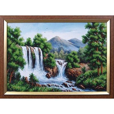 Набор для вышивания бисером МК Б-125 «Водопад в горах» 40*27,5 см в интернет-магазине Швейпрофи.рф